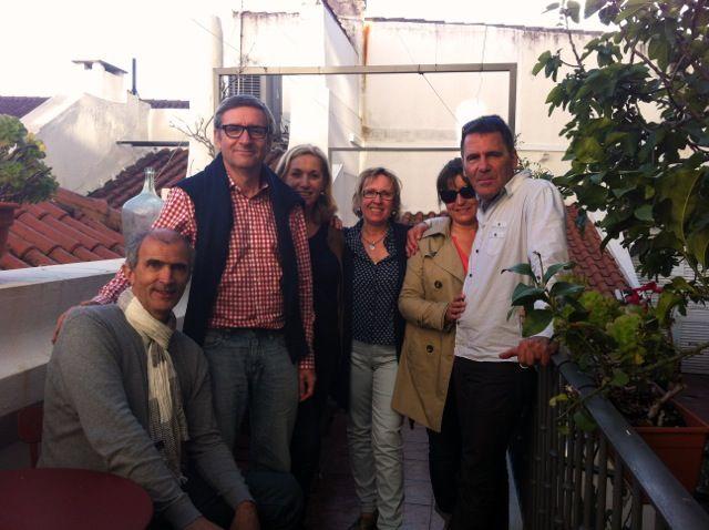 Last Sunday at Casa do Bairro terrace...