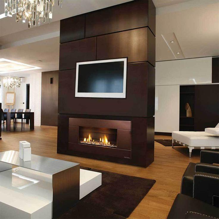 Escea ST900 Direct Vent Fireplace Ferro Steel Fascia   CornerstoneMantels.com: Fireplaces, Direct Vent Fireplaces