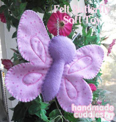 Butterfly Felt Soft Toy Tutorial & Pattern   Handmade Cuddles