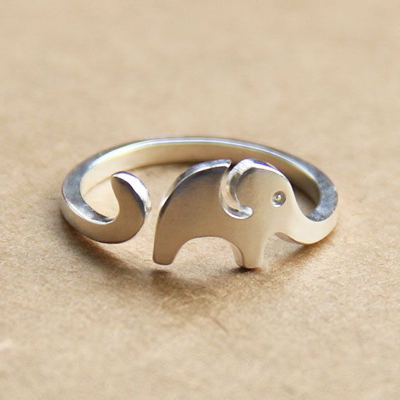Silver Elephant Ring Elephant Ring Adjustable by Instyleglamour