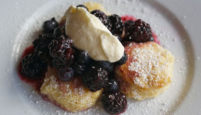 Tasty n Sons: Portland, OR  Biscuits with blueberry compote