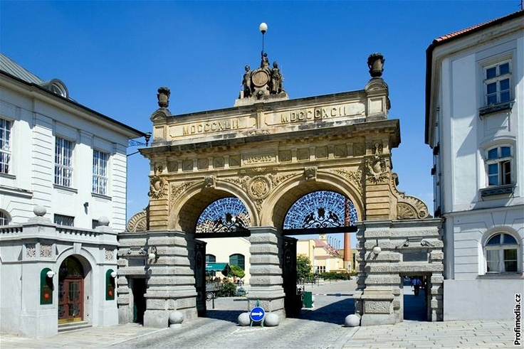 Entrance to Plzeň brewery (yes this is the city where the original Pilsner beer comes from).