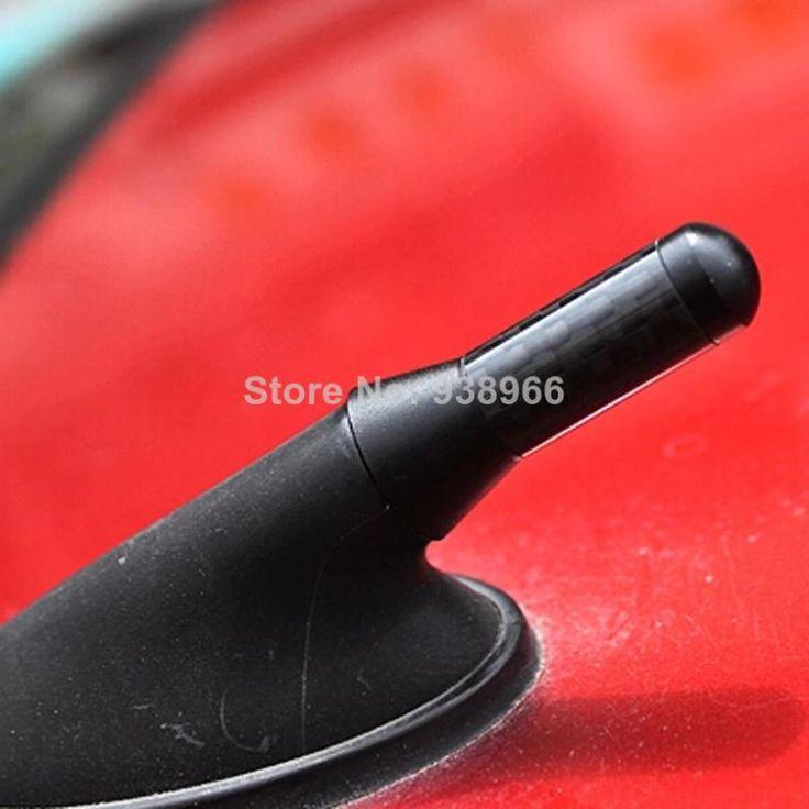 4 см Короткие автомобильная Антенна Антенна Автомобиля Углеродного Волокна Алюминиевые Антенны Украшения Автомобиля Крыша Короткий для бесплатной доставкой