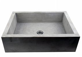 Bronka - prostokątna umywalka betonowa