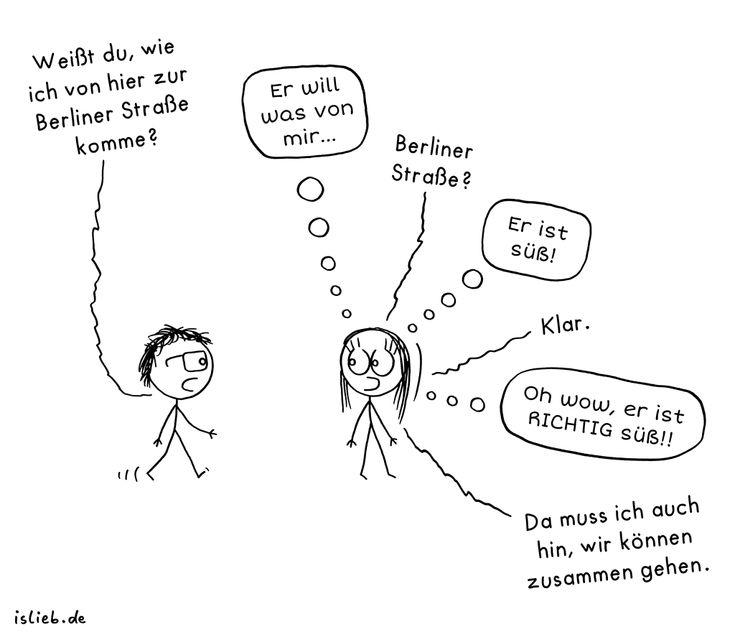Cartoons flirten
