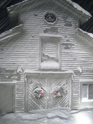 Snowy Christmas Barn