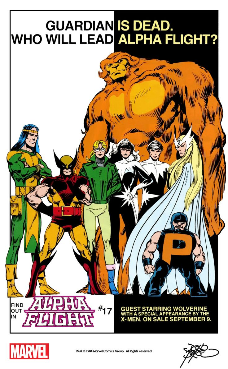 John persons comics for sale - Marvel House Ad For Alpha Flight 17 1984 With Art By John Byrne