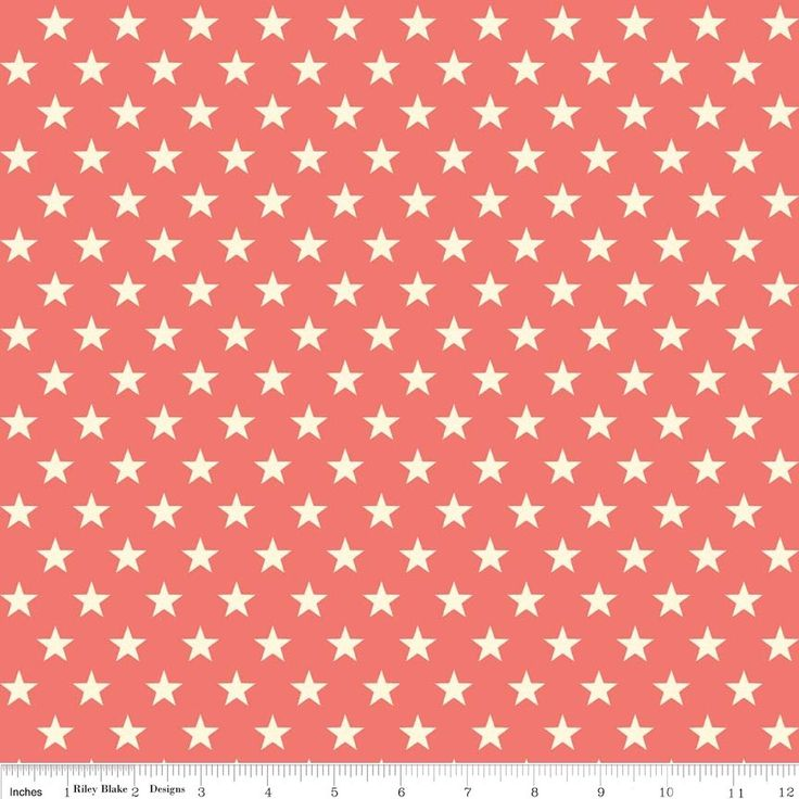 Riley Blake fabric Trendsetter Stars Coral