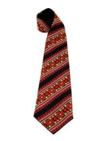Колоритна краватка з яскравою авторською вишивкою хрестиком