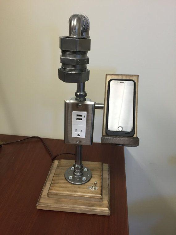 Lámpara de escritorio Industrial acero por UnrefinedDeviation