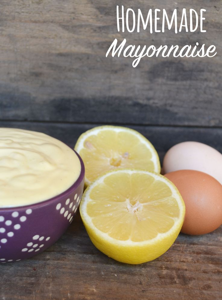 Homemade Mayonnaise - Making your own mayonnaise is not only easy, but way more delicious than store-bought mayonnaise.
