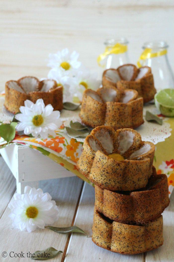 Mini cakes de lima y semillas de amapola
