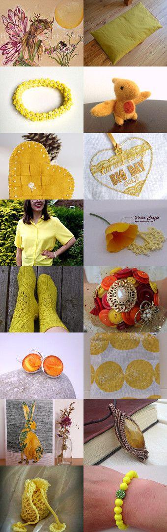 Sunshine Yellow by Daisy Felts on Etsy--Pinned with TreasuryPin.com