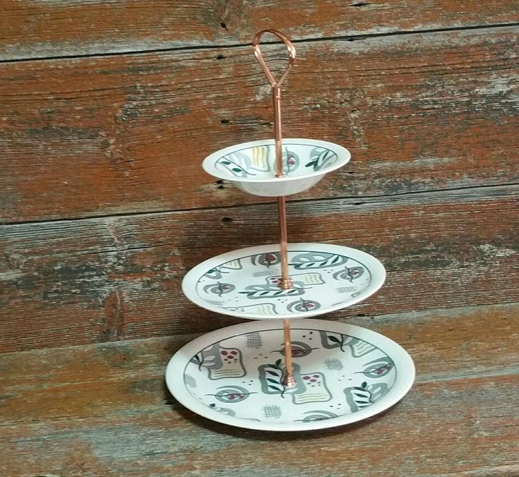 Vintage Wood & Sons Calypso Cake Stand, Ringwood Ware Made in England, 3 Tier Cake Stand, by EmptyNestVintage on Etsy