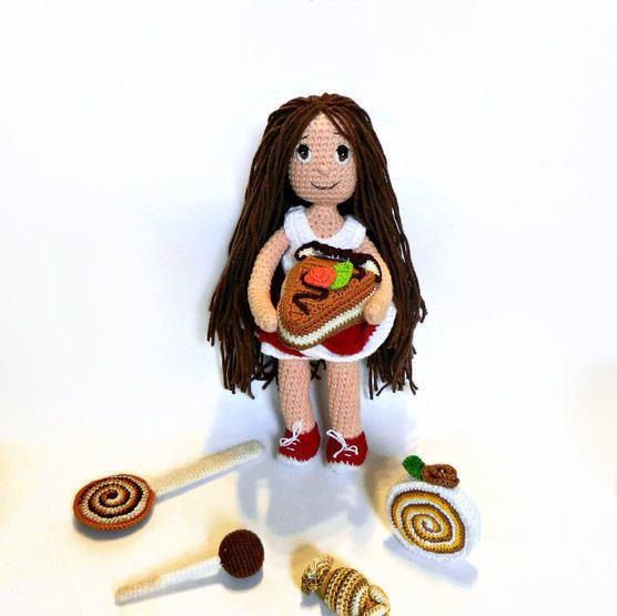Crochet doll Chocolate Amigurumi doll  pretty girl by MajjaCrochet https://www.etsy.com/listing/505778274/crochet-doll-chocolate-amigurumi-doll?ref=shop_home_active_1
