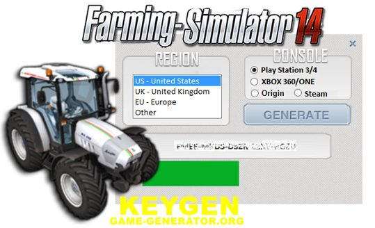 We are happy that we can share it with you. We worked on this Farming Simulator 2014 CD Key really hard, so in return we expect you to appreciate our work.