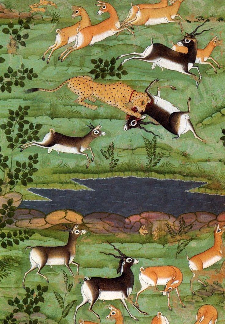 Shah Jahan Hunting Deer with Trained Cheetahs (detail), ca. 1710