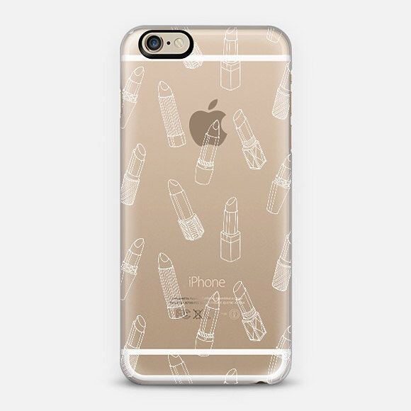 White Lipsticks Clear Phone Case iPhone 6/6S, 6 plus, 5/5s by emmakisstina on Etsy https://www.etsy.com/listing/213822548/white-lipsticks-clear-phone-case-iphone