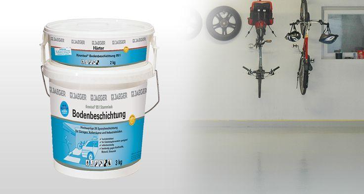 Garagenböden ganz einfach streichen mit Kronisol® Bodenbeschichtung.  #Bodenbeschichtung #jaegerlacke #garage