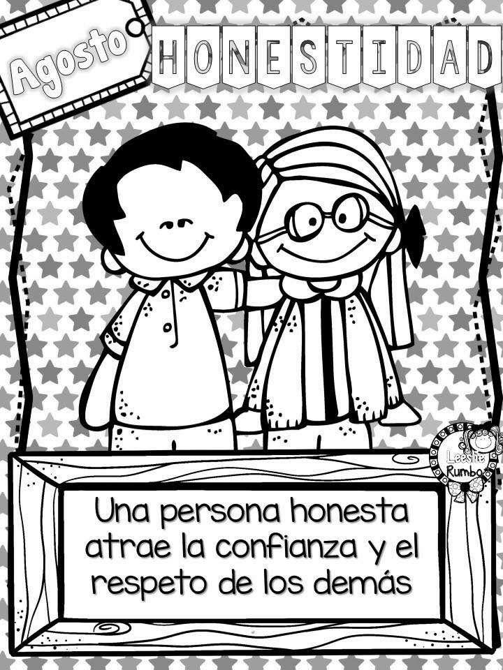 Honestidad Honestidad Para Ninos Dibujos De Los Valores Valores En La Escuela