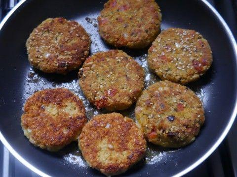 hamburguesas vegetarianas de avena