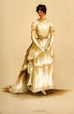 Fancy Dresses Fine Chromolithograph -1887- CLASSIC - Antique Print