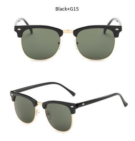 TSHING RAY Vintage Brand Designer Sunglasses Men Women Half Frame Mirror Sun Glasses Fashion Retro Female Oculos De Sol UV400
