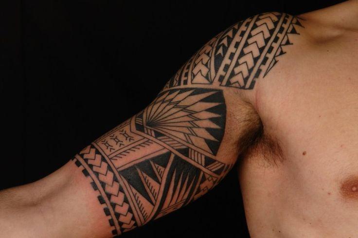 Tatouage Maori Epaule Bras Homme Pm6f1