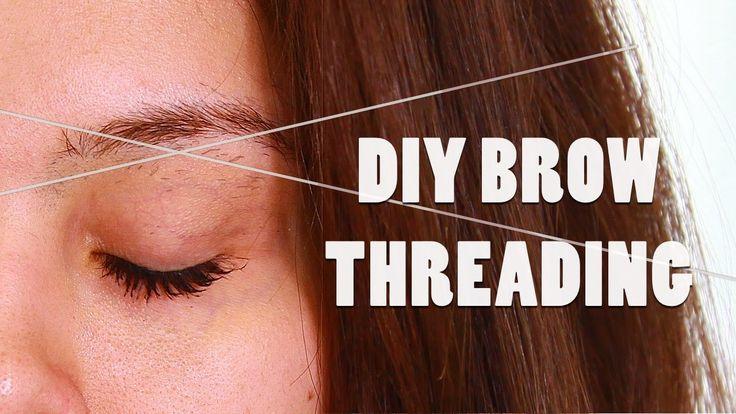 DIY BROW THREADING TUTORIAL: AT HOME SHAPING