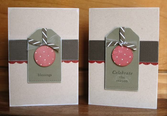 Simple Tag and Craft Christmas cards by Elmi Raubenheimer
