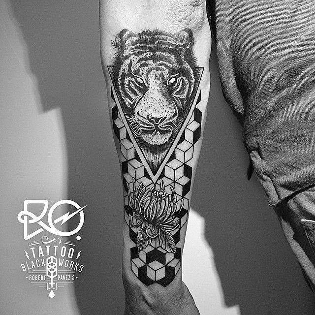 Geometric Tiger Tattoo 1000  images about tattoo on pinterest tiger ...
