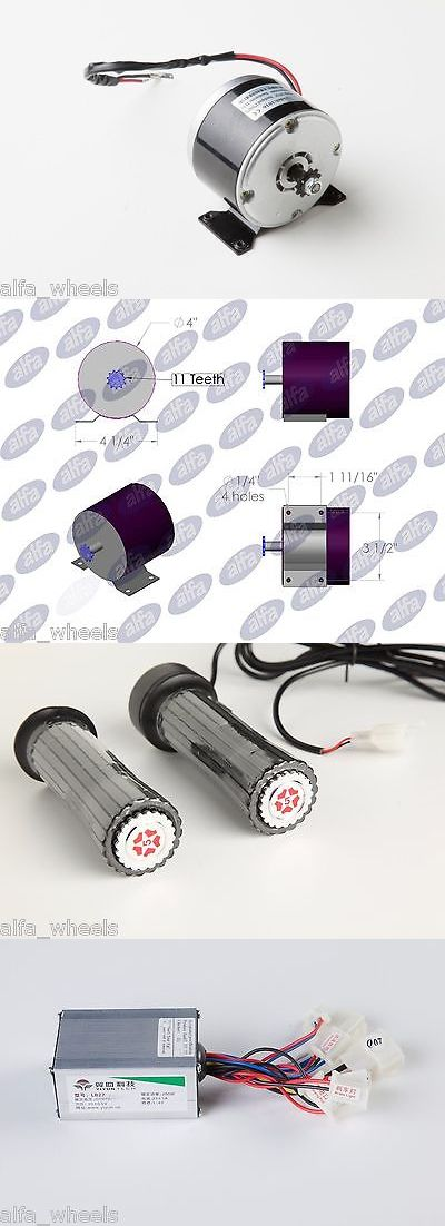 Parts and Accessories 11332: 200 W 24 V Dc Scooter Electric Motor 1016 Kit With Speed Controller And Throttle BUY IT NOW ONLY: $35.5