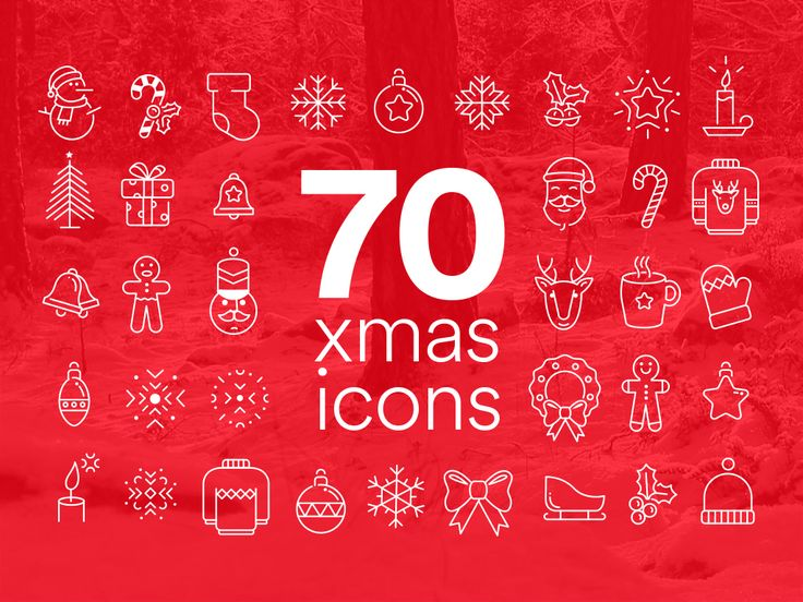 70 AWESOME XMAS ICONS on Behance