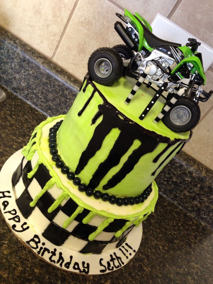 Seth's awesome monster energy cake!