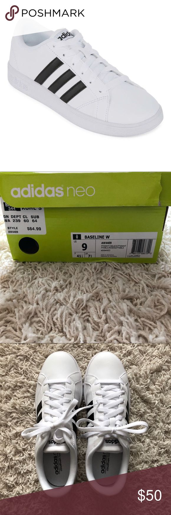 NEW Women's Adidas Baseline Sneakers * Never been worn * Comes with original tissue * Can be shipped with or without box depending on your preference * Ordered online and could not be returned adidas Shoes Sneakers