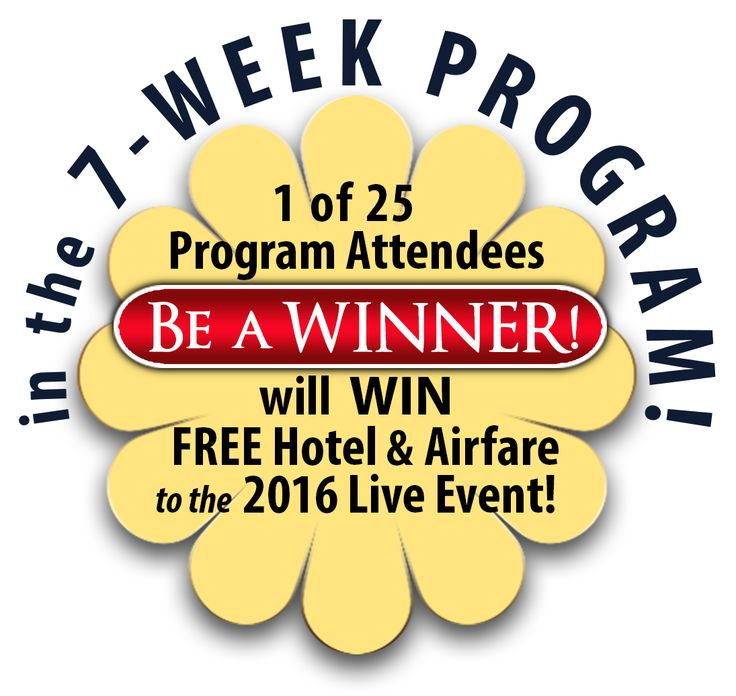 Be the WINNER to receive absolutely FREE plane and hotel fare to the next live resilience-focused event!