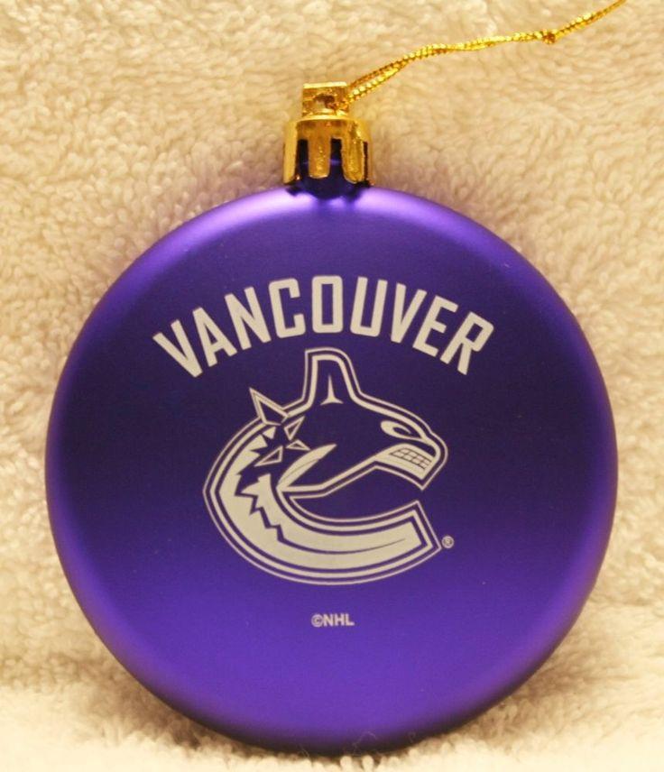 Vancouver Canucks - NHL Christmas Ornament   #nikolashaNHLVancouverCanucks