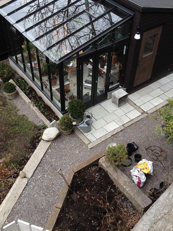 Växthus med sten