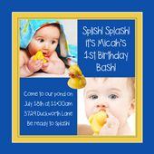 Personalized-square-two-photo-duck-invitations  Rubber Ducky Theme