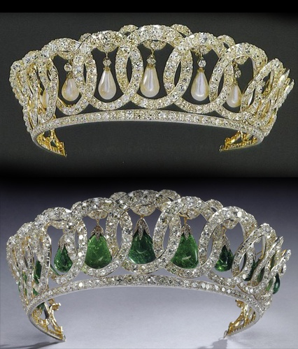 Grand Duchess Vladimir's diamond circles, now owned by the British royal family. Surely one of the most iconic and beautiful tiaras.