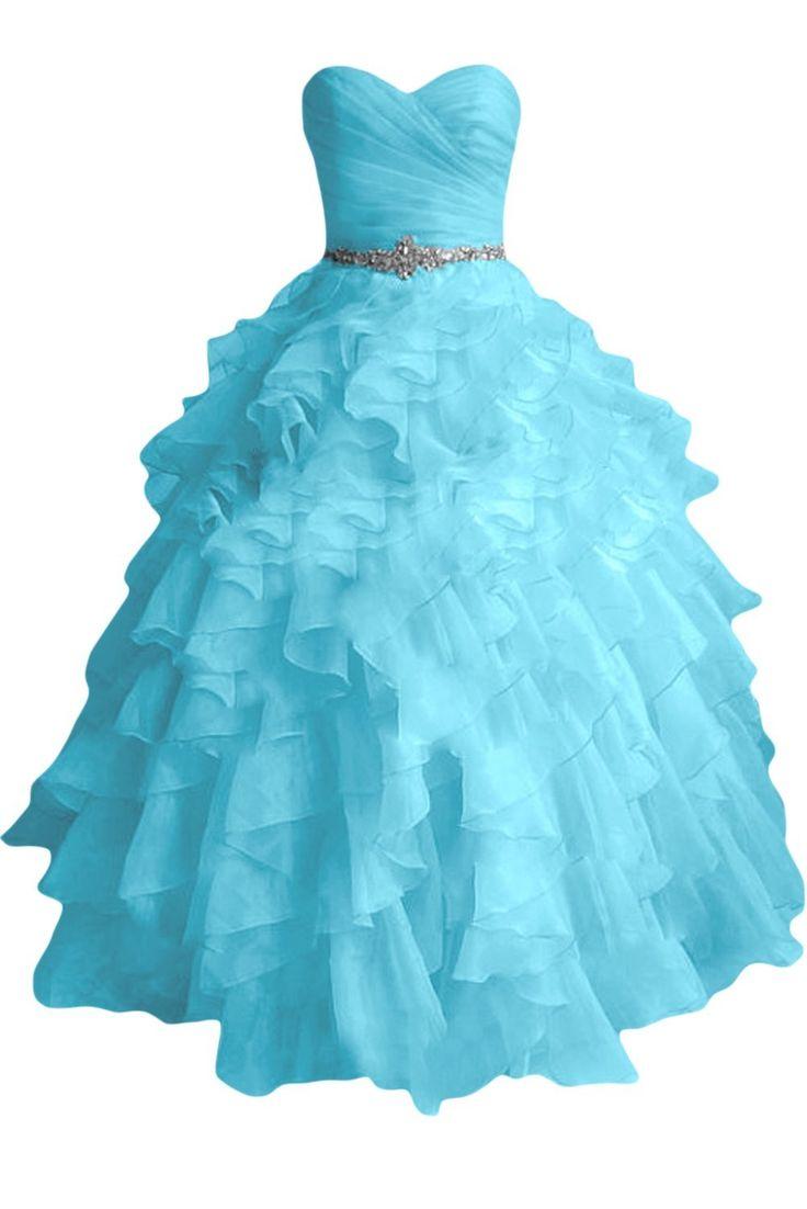 Sunvary Einfach Herzform Brautjungfrnkleider Abendkleider Lang Tuell Ballkleider: Amazon.de: Bekleidung