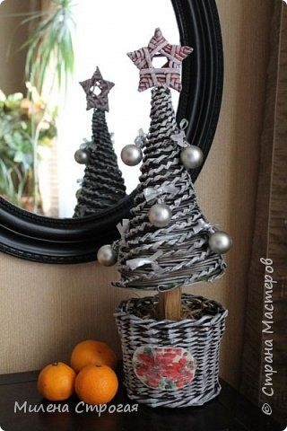 Поделка изделие Новый год Плетение Новогоднее  и не только  Трубочки бумажные фото 2