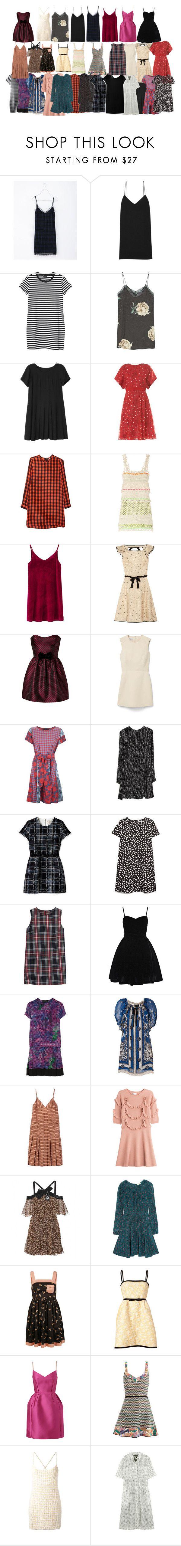 """dress"" by anaunderground on Polyvore featuring moda, Zara, The Row, Monki, MANGO, Giambattista Valli, Equipment, Moschino Cheap & Chic, WithChic e Valentino"