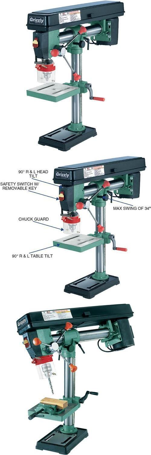 Drill Presses 71296: G7945 Grizzly 5 Speed Benchtop Radial Drill Press -> BUY IT NOW ONLY: $295 on eBay!