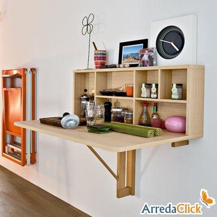 17 mejores ideas sobre mesa plegable en pinterest mesa - Mesa plegable pared ...