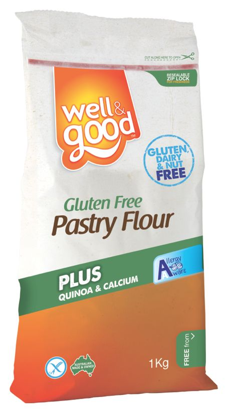 Gluten Free Pastry Flour. Perfect for making buttery delicious Gluten Free pastry and smooth textured gluten free pastas that don't fall apart when cooked. You can even make your own gnocci. Now displaying the FODMAP Friendly logo.