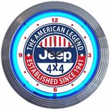 Jeep the American Legend Neon Clock