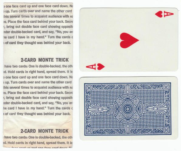 2-Card Monte Magic Trick Cereal Premium, Issued In The