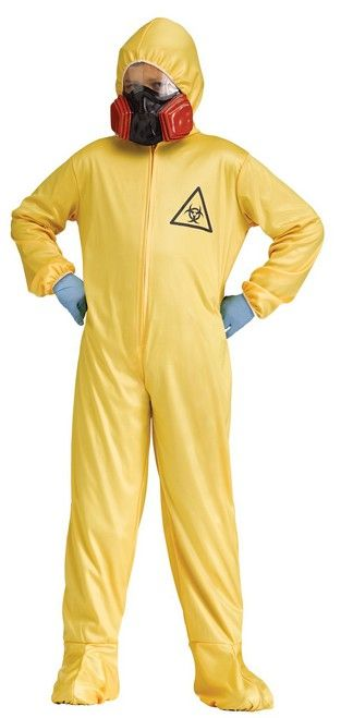 Kids Hazmat Suit Costume - Feeling a little hazardous? Be prepared to clean up spills or make some chemicals of your own with this fun kids Hazmat suit costume. It comes with hooded coverall and mask. Perfect for Halloween, haunted house, school events or where you need to take caution. #yyc #costume #Calgary #HazmatSuit