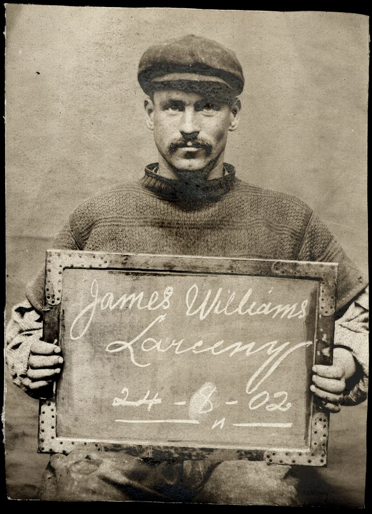 James Williams, arrested for larceny, 1902.